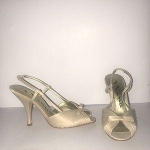 Cream Nina heels